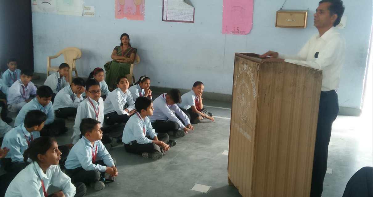 Photo of आज एमएएसडी सीनियर सेकेंडरी स्कूल नारनौल में बच्चों को नैतिक मूल्यों की शिक्षा पर आधारित सेमीनार का आयोजन किया।